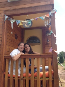 Me and Mom on Gyrtle's front porch, July 2013