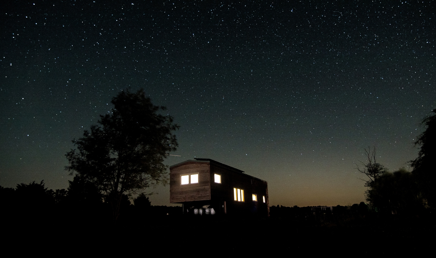 tiny home under the stars